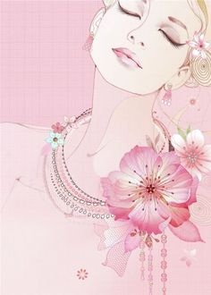 Illustrations Pastel, Greeting Card Companies, Face Illustration, Woman Face, Lady Face, Arte Pop, Art Tutorials, Watercolor Flowers, Female Art