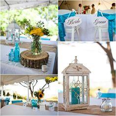 Rustic Wedding Theme from Sun and Sea Beach Weddings. St. Augustine Yacht Club.