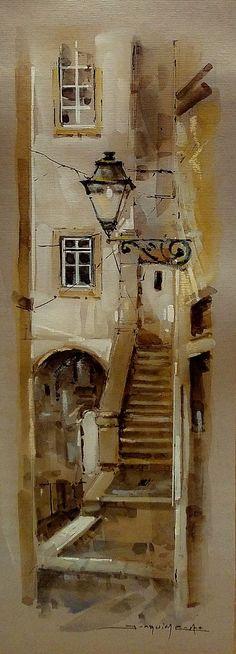 Porto City, Costa, Painting, Art, Watercolour, Paintings, Art Background, Painting Art, Kunst