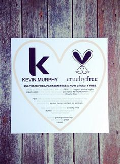 KEVIN.MURPHY is a proud member of PETA's Beauty Without Bunnies program!
