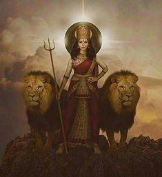 Lord Durga, Durga Maa, Shiva Shakti, Saraswati Goddess, Kali Goddess, Goddess Art, Mother Goddess, Navratri Puja, Maa Durga Image