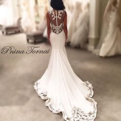 PninaTornai's Fit And Flare wedding gown!
