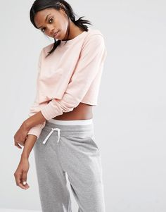 Missguided+Cropped+Sweat+Top