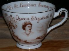 Tuscan China Tea Cup Commemorating the Opening of the St. Lawrence Seaway. Would love to have this for my collection.