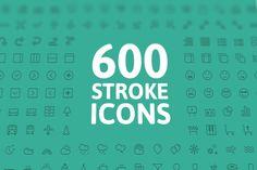 FREE this week on Creative Market: 600 Stroke Vector Icons by Pixel Bazaar. Download link: http://crtv.mk/sztP