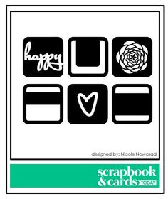 Scrapbook & Cards Today Blog: Free cut file from designer Nicole Nowosad!