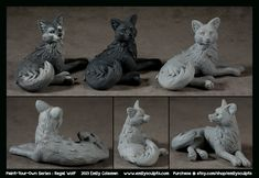 Paint-Your-Own Series : Regal Wolf by emilySculpts on deviantART