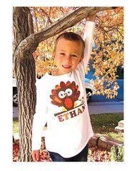 Thanksgiving Personalized Owl Turkey Kids Shirt for Boys Girls Babies | FUNKY MONKEY THREADS, #FMT, #funkymonkeythreads, #thanksgiving, #turkeyshirt