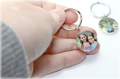 Handmade Your Image or Photo House Keychain Silver by dlkdesigns, $35.00
