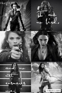 I am no bird, and no net ensnares me: Women of Marvel: Black Widow, Daisy Johnson, Peggy Carter, Scarlett Witch, Gamora, Lady Sif. (Me edit please give credit )