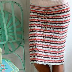 Hækl selv: Nederdel i striber - Hendes Verden