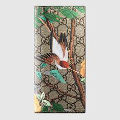 Gucci Tian GG Supreme long wallet