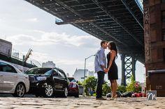 NY Wedding Photography: Danielle & Will - Brooklyn Engagement Photos - Under the Brooklyn Bridge