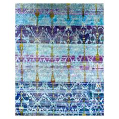 Silk Orchid Blue - Recycled Sari silk Rug from Elte $12,895