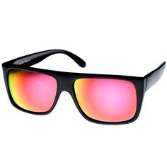a672fac7f9e zeroUV Modern Action Sports Flat Top Flash Color Mirror Lens Sunglasses  MatteBlack Fire   Want to know more