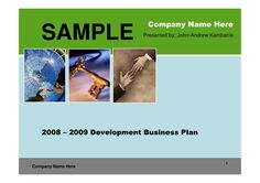 Real Estate Development Business Plan by kambanis via slideshare Sample Business Plan, Business Planning, Business Plan Presentation, Real Estate Development, Company Names, How To Plan, Amazing, Business Names, Shop Plans