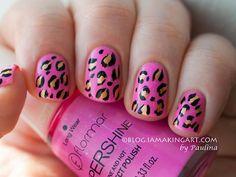 Valentine's Leopard Print by member Paulina     #ValentinesDay #nails #nailart