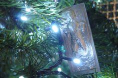 Star wars Christmas tree ornaments / Han Solo carbonite diy / adorno de pino de Navidad