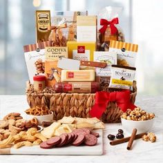 Gourmet Gift Baskets - Corporate Gratitude Gift Basket Chocolate Roll, Ghirardelli Chocolate, Chocolate Dipped, Chocolate Chip Cookies, Gourmet Gift Baskets, Gourmet Gifts, Cheese Spreaders, Butter Toffee, Gourmet Cheese