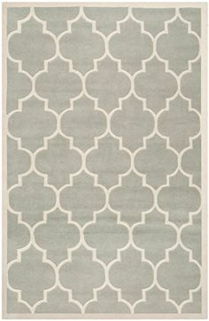 Safavieh Chatham Collection CHT733E Handmade Grey and Ivory Wool Area Rug 6 feet by 9 feet 6 x 9 -- You can get more details by clicking on the image.