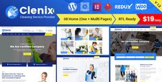Buy Clenix - Cleaning Services WordPress Theme by RadiusTheme on ThemeForest. Clenix – Cleaning Services WordPress Theme Clenix is an amazing Bootstrap 4 based WordPress theme for all sorts of c. Cleaning Companies, Cleaning Business, Cleaning Services, Browser Chrome, Construction Services, Best Templates, Corporate Business, Premium Wordpress Themes