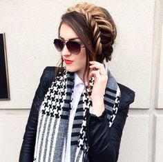 A new variation of a milkmaid braid by Vicky. She rocks this look with her Ombre Blonde Luxy Hair in a fishtail braid! | Check out this shade here: http://www.luxyhair.com/collections/super-luxurious-160g/products/ombre-blonde-2-18-160g