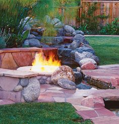 Warming Trends - Outdoor Fire Pits, Fire Pit Safety & More: June 2011 Large Fire Pit, Easy Fire Pit, Round Fire Pit, Fire Pit Chairs, Fire Pit Seating, Seating Areas, Backyard Gazebo, Fire Pit Backyard, Backyard Ideas