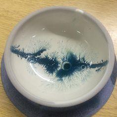Took a mocha diffusions class today! Woohoo!!! #mochadiffusion #mochadiffusionmadness #ceramic #teal #pottery #newtechniques