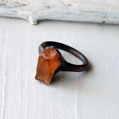 MidwestAlchemy  Copper Rings and Pendants Raw Modern Gemstones