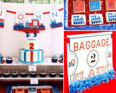Thoms the Train themed birthday party via Karas Party Ideas | KarasPartyIdeas.com #thomas #train #themed #birthday #party #planning #ideas #cake #cupcakes #idea