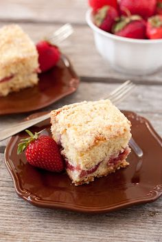 I tell you no lie when I say this Strawberry Coffee Cake is the best coffee cake I've ever eaten! I love it! It makes sense that I like it so much because