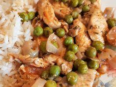 Zöldborsós csirkemell ragú recept lépés 5 foto Pasta Salad, Chicken Recipes, Food And Drink, Low Carb, Cooking Recipes, Tasty, Lunch, Diet, Meals