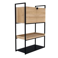 The Oak Cell unit cupboard is designed to meet various needs and fit into any room in your home. An elementary form, solid vertical lines and smooth oak surfaces create a practical storage unit. The oak cell unit collection also includes a sideboard.
