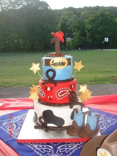 Cowboy cake but for a girl