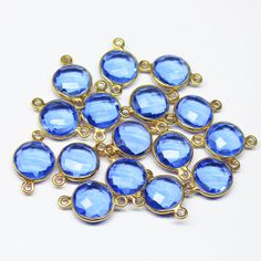 Connector Natural Tanzanite Hydro Coin 18mm gold by jewelsexports, $8.78