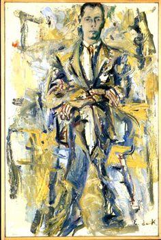 Elaine de Kooning (American, 1918 – - Portrait of Thomas B. De Kooning Paintings, Elaine De Kooning, Expressionist Artists, Abstract Expressionism, Classic Artwork, Willem De Kooning, Georges Braque, Joan Mitchell, Helen Frankenthaler