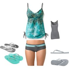 """REI Tankini"" by danielle-bishop on Polyvore"