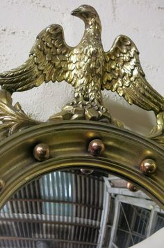 Retro French convex mirror