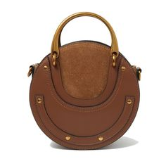 56.04$  Watch now - With Logo Genuine Leather Women Handbags Round Metal Handle Fashion Famous Luxury Brand Designer Style Crossbody Shoulder Bags   #buymethat