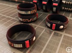 I started this Teleport Bracelet from Blake's 7 around the same time I was making the other items for the DVD menu's, but this got barely s. Best Sci Fi Series, Sci Fi Tv, Bbc Tv, Film Books, Dr Who, Art Blog, Dog Bowls, Doctor Who, My Arts