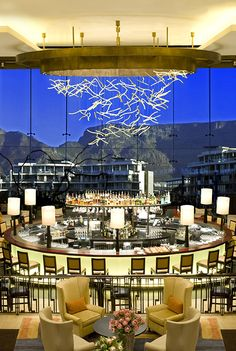 Vista Bar, One & Only Cape Town, South Africa. BelAfrique - your personal… Most Beautiful Cities, Beautiful Places To Visit, Hotels And Resorts, Best Hotels, Africa Destinations, Cape Town South Africa, Bar Lounge, Travel Planner, Africa Travel