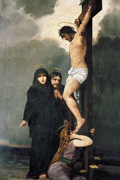 """""I have been crucified with Christ; and it is no longer I who live, but Christ lives in me; and the life which I now live in the flesh I live by faith in the Son of God, who loved me and gave Himself. Jesus Christ Painting, Jesus Art, Catholic Art, Catholic Gifts, Catholic Store, Religious Images, Religious Art, Pictures Of Jesus Christ, Our Lady Of Sorrows"