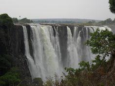Spectacular view of Victoria Falls.