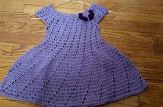 👭Vestidito en crochet(ganchillo) para niña en punto relieve👭
