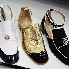 Chanel flats spring 2015 | I would wear these for years :)