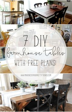 7 DIY Farmhouse Dini