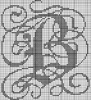 Cross-stitch #alphabet #monogram #abc's #B