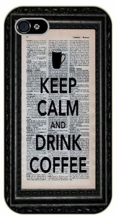 iPhone 5 / 5s Keep calm and drink coffee - black plastic case / Keep calm, funny, quotes by Surelock Ideas TM, http://www.amazon.com/dp/B00JS6WK5K/ref=cm_sw_r_pi_dp_CwHhub05F3KTN