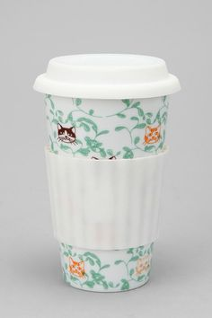 """""""Grassy Cats to-go Cup""""....def. gonna need this haha. it combines my love of coffee AND cats."""