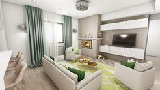 Design interior apartament Nordului - Bucuresti - iDecorate Design Interior, Couch, Curtains, Furniture, Home Decor, Insulated Curtains, Homemade Home Decor, Sofa, Blinds